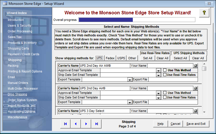 Export Shipping Data From Stone Edge To A Text File